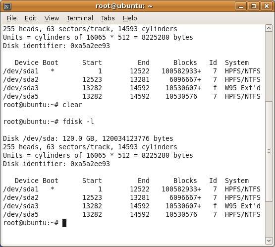 terminal windows drive listing - Mount NTFS / FAT32 Windows Drive In Ubuntu