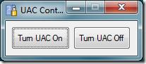 windowsuaccontrol thumb - Windows Vista UAC Enable / Disable Tool | Single C