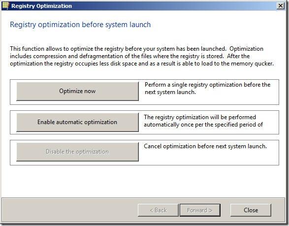 registry-optimisation