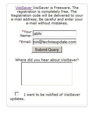 visisaver-register