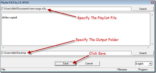 export-playlist-files